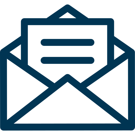 Email icon in blue